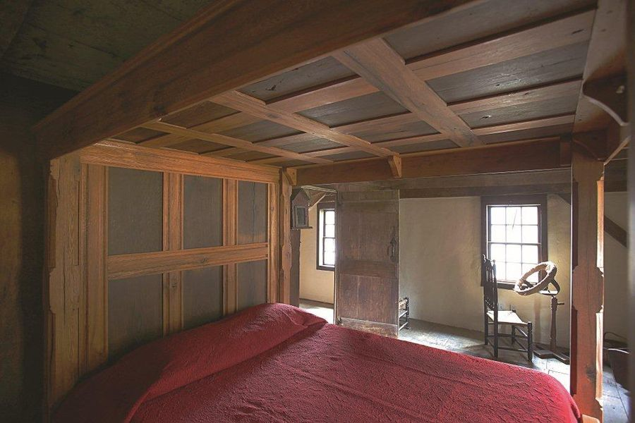 Spinning Room. It is one of the two original upstairs bedrooms. Not available for guest use.